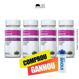 Kit 04  Amora Miura Inove Nutrition+Brinde Coqueteleira