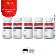 Combo 05 Potes L-Carnitina Inove Nutrition c/ 60 cápsulas cada + Brinde 2 Moove Slim + 2 Moove Fiber + 2 Moove Hydrate + 2 Moove Energy + Camiseta.