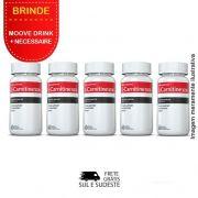 Combo 05 Potes L-Carnitina Inove Nutrition c/ 60 cápsulas cada + Brinde 2 Moove Slim + 2 Moove Fiber + 2 Moove Hydrate + 2 Moove Energy + Necessaire.