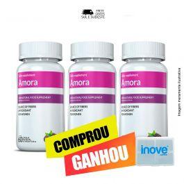 Combo Amora Miura 03 Potes Inove Nutrition c/ 60 cápsulas cada. + Brinde Moove Slim + Moove Fiber + Porta Cápsulas.