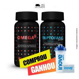 Combo coração e sono bom Ômega 3 + Triptofano Dreams + Brinde coquteleira + porta cápsulas Inove Nutrition