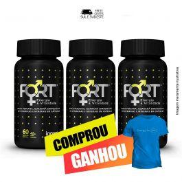 Combo Fort® Energia & Vitalidade Inove Nutrition 03 potes  C/ 60 cápsulas softgel + Brinde Camiseta Inove Nutrition.