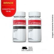 Combo L-Carnitina 02 potes Inove Nutrition c/ 60 cápsulas cada + Brinde Coqueteleira 700 ML Inove Nutrition