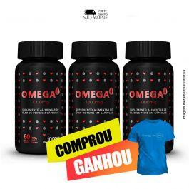 Combo  Omega 3 1000mg  Inove Nutrition 03 potes C/ 60 cápsulas softgel + Brinde Camiseta Inove Nutrition.