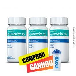 Combo Reumatrite®500  Inove Nutrition 03 potes   c/ 60 cápsulas + Brinde Coqueteleira 600 ML