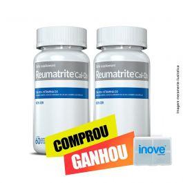 Combo Reumatrite®CAL-D3  02 potes Inove Nutrition c/ 60 cápsulas cada + Brinde Moove Slim + Moove Fiber + Porta Cápsulas Inove nutrition