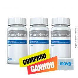 Combo Reumatrite®CAL-D3  03 potes Inove Nutrition c/ 60 cápsulas cada + Brinde Moove Slim + Moove Fiber + Moove Hydrate + Moove Energy + Porta Cápsulas Inoove Nutrition