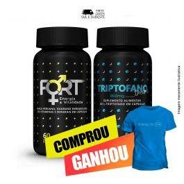 Combo sono bom e vitalidade Fort® + Triptofano Dreams + Brinde Camiseta Inove Nutrition