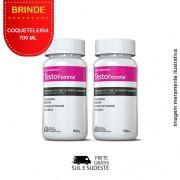 Combo Testofemme® Inove Nutrition 02 potes  c/ 60 cápsulas cada + Coqueteleira 700 ML Inove Nutrition