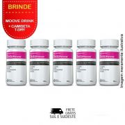 Combo Testofemme® Inove Nutrition 05 Potes c/ 60 cápsulas cada. + Brinde 2 Moove Slim  + 2 Moove Energy + 2 Moove Hydrate + 2 Moove Fiber + camiseta.