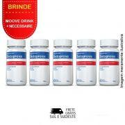 Combo Testopro500® 05 Potes  c/ 60 cápsulas cada + Brinde 2 Moove Slim + 2 Moove Fiber + 2 Moove Hydrate + 2 Moove Energy + Necessaire.