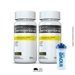 Combo Thermogenize®420 Inove Nutrition 02 Potes c/ 60 cápsulas cada. + Brinde Coqueteleira 600 ML Inove Nutrition