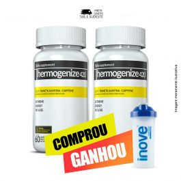 Combo Thermogenize 420 Inove Nutrition 02 Potes c/ 60 cápsulas cada. + Brinde Coqueteleira 600 ML Inove Nutrition