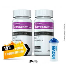 Combo Thermogenize®Femme Inove Nutrition 02 Potes c/ 60 cápsulas cada. + Brinde Coqueteleira 600 ML  Inove Nutrition