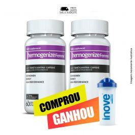 Combo Thermogenize Femme Inove Nutrition 02 Potes c/ 60 cápsulas cada. + Brinde Coqueteleira 600 ML  Inove Nutrition