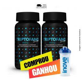 Combo  Triptofano Dreams 860 mg Inove Nutrition 02 potes  C/ 60 cápsulas softgel + Brinde Coqueteleira Inove Nutrition 600 ML.