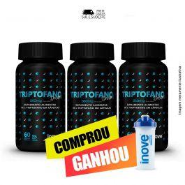 Combo  Triptofano Dreams 860 mg Inove Nutrition 03 potes  C/ 60 cápsulas softgel + Brinde Coqueteleira Inove Nutrition.