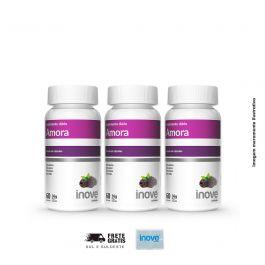 Kit Amora Miura 03 Potes Inove Nutrition c/ 60 cápsulas cada. + Brinde Porta Cápsulas.