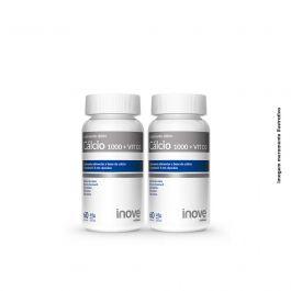 Kit Cálcio 1000 + VIT D3 02 potes Inove Nutrition c/ 60 cápsulas cada