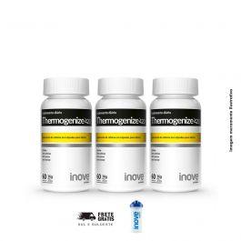 Kit Thermogenize 420 Inove Nutrition 03 Potes c/ 60 cápsulas cada. + Brinde Coqueteleira Inove Nutrition
