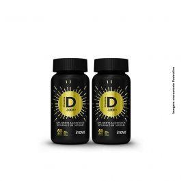 Kit Vitamina D 2.000 ui Inove Nutrition  02 potes  C/ 60 cápsulas softgel