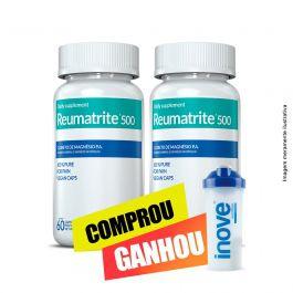 Reumatrite®500 Inove Nutrition 02 potes  c/ 60 cápsulas  + Coqueteleira Inove Nutrition 600 ML
