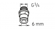 CONECTOR LAPF F1/4 -  SKF