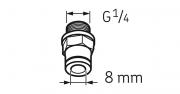 CONECTOR LAPF M1/4 - SKF