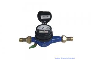 HIDROMETRO MULTIJATO C/CONEXAO QN 1,5M³/H - QMAX 3M3/H DN 3/4