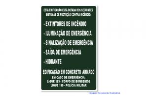 PLACA SINALIZAÇÃO COMPLEMENTAR - ROTA DE FUGA MOD: M-1-11 500 MM X 330 MM