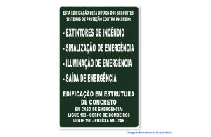 PLACA SINALIZAÇÃO COMPLEMENTAR - ROTA DE FUGA MOD: M-1-4 500 MM X 330 MM