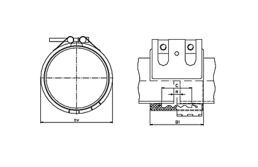 ABRAÇADEIRA STRAUB OPEN FLEX - 1L REPARO NBR/PVC 114.3 MM