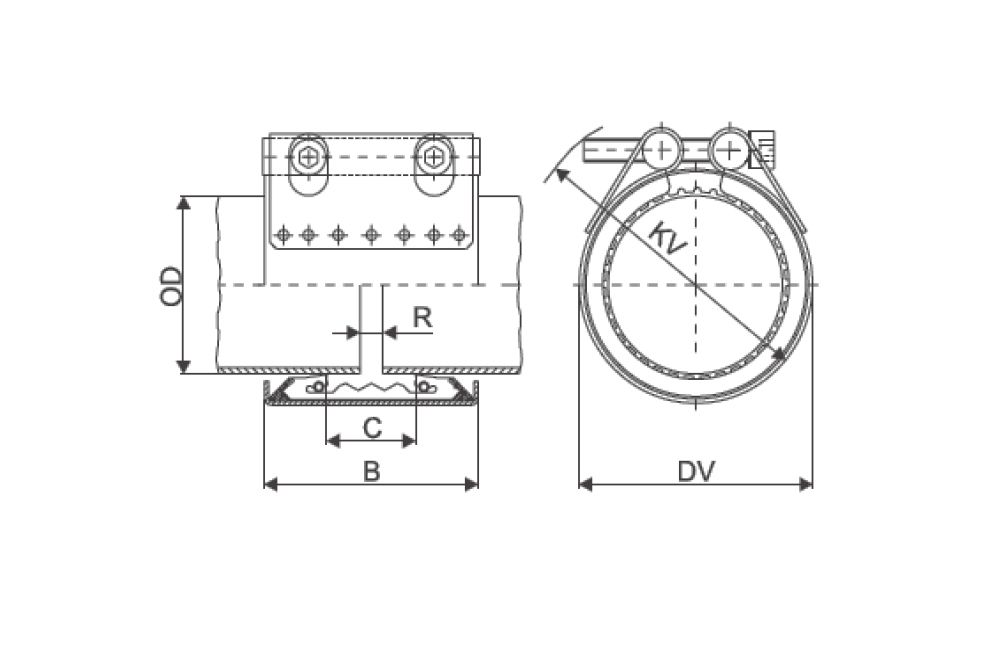 ACOPLAMENTO STRAUB METAL GRIP EPDM 139.7 MM
