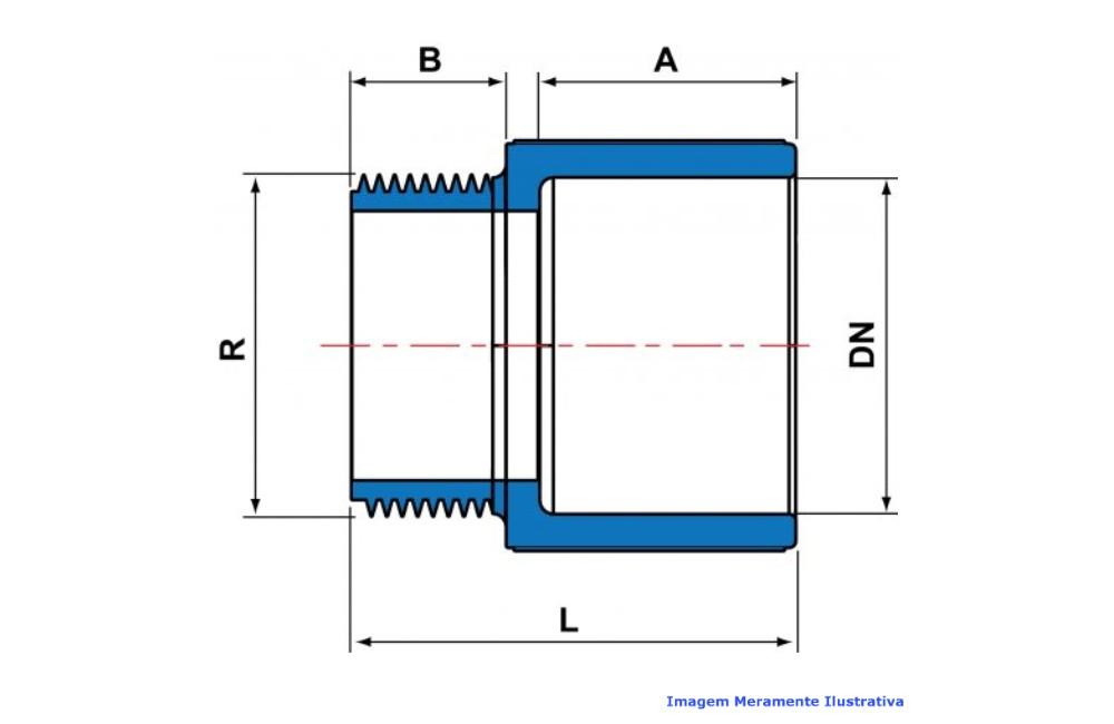 ADAPTADOR CURTO L/R CPVC INDUSTRIAL SCH80 TIGRE DN 1.1/2