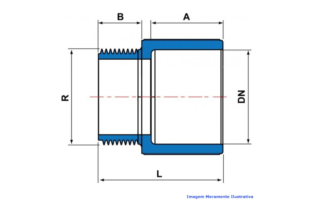 ADAPTADOR CURTO L/R CPVC INDUSTRIAL SCH80 TIGRE DN 1.1/4