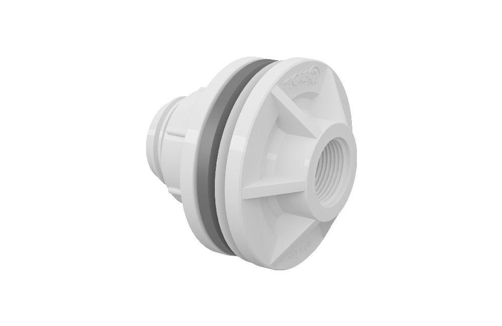 Adaptador Roscável com Anel - Branco - PVC