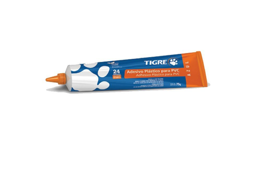 Adesivo Plástico para PVC - Bisnaga - Azul