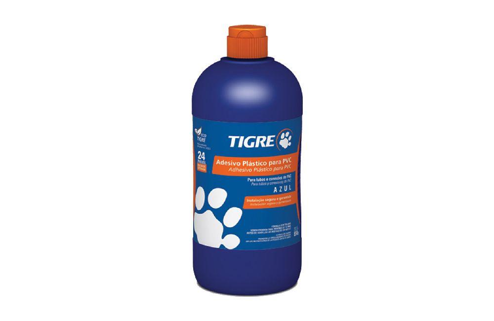 Adesivo Plástico para PVC - Frasco - Azul