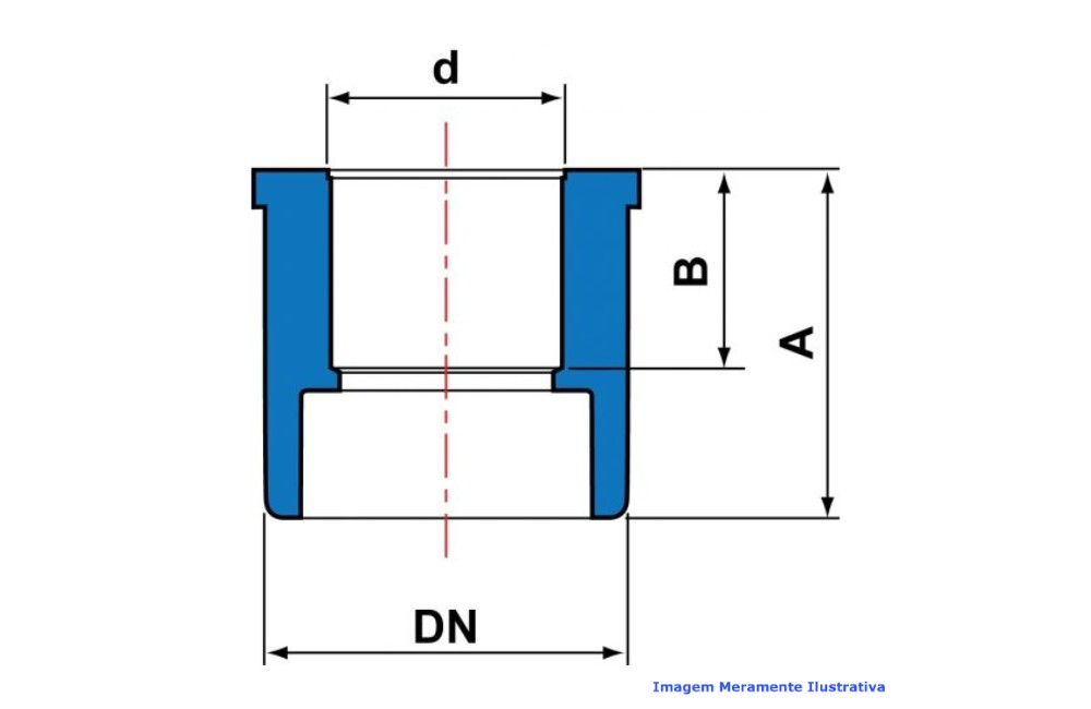 BUCHA RED CPVC INDUSTRIAL SCH80 SOLD TIGRE DN 1.1/2 X 3/4
