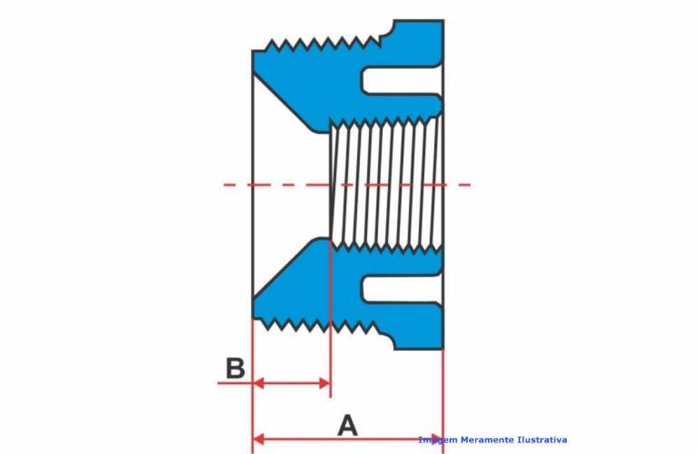 BUCHA REDUÇÃO PVC-U SCH80 R/R TIGRE DN 1 X 3/4 NPT