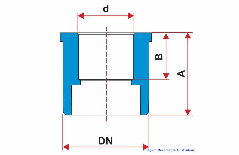 BUCHA REDUÇÃO PVC-U SCH80 SOLD TIGRE DN 2.1/2 X 1.1/2