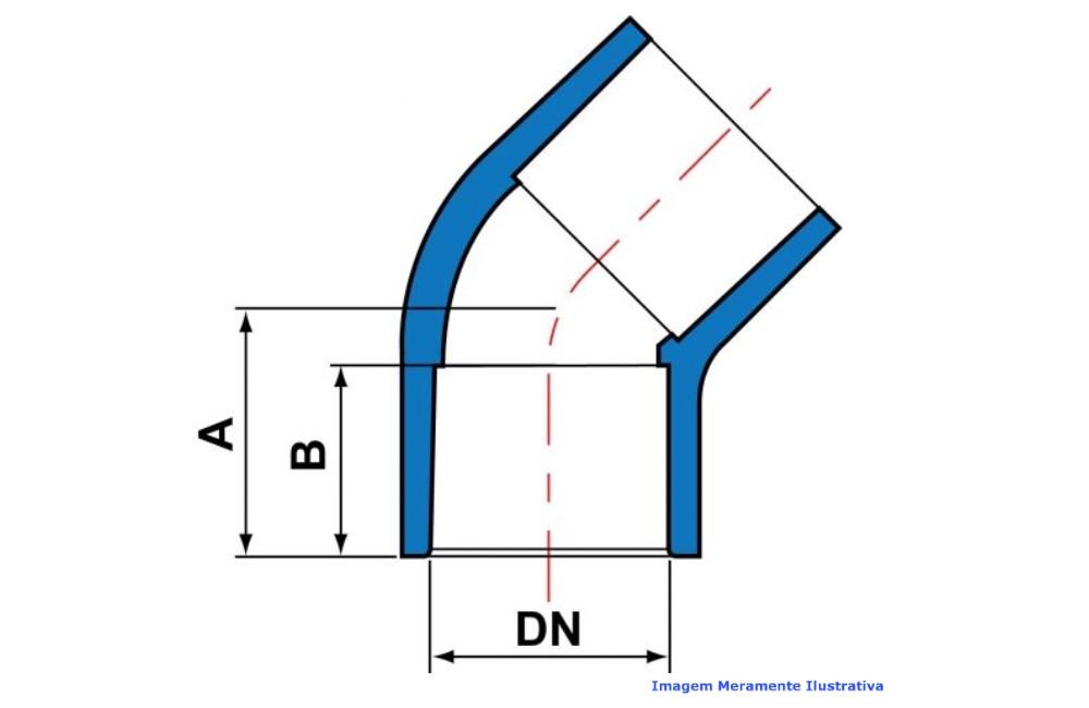 COTOVELO 45G CPVC INDUSTRIAL SCH80 SOLD TIGRE DN 1/2