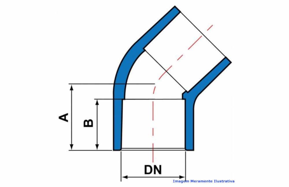 COTOVELO 45G PVC-U SCH80 SOLD TIGRE DN 1/2