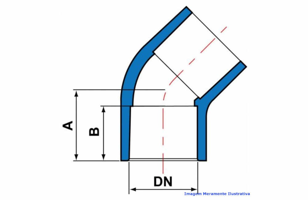 COTOVELO 45G PVC-U SCH80 SOLD TIGRE DN 2