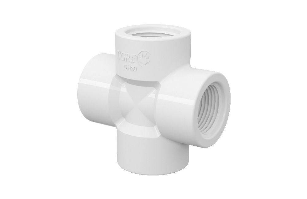 Cruzeta Roscável - PVC