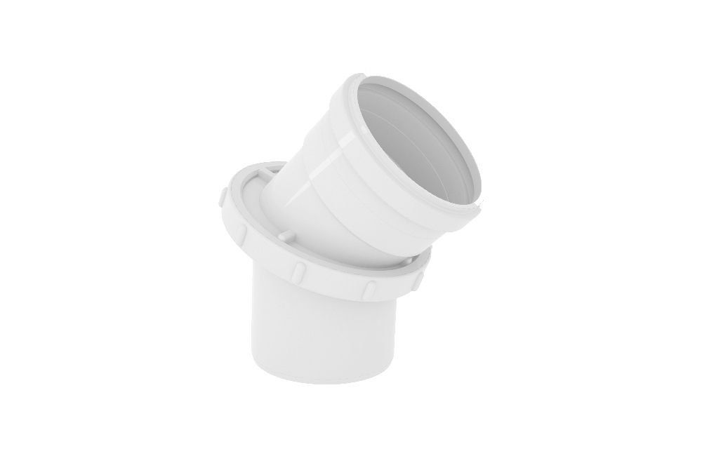 CurVar 45° - Esgoto - PVC