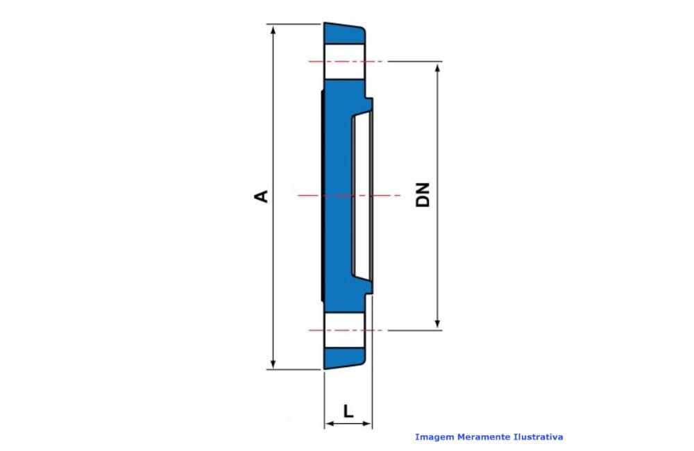 FLANGE CEGO CPVC INDUSTRIAL SCH80 SOLD TIGRE DN 1.1/2