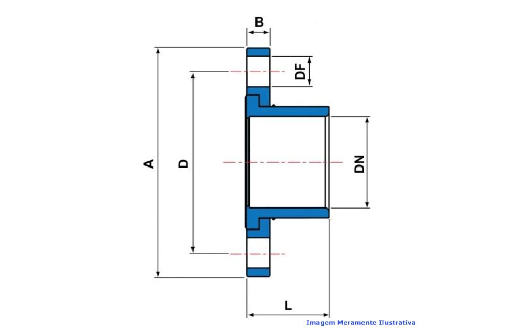 FLANGE FEMEA CPVC INDUSTRIAL SCH80 SOLD TIGRE DN 1.1/2