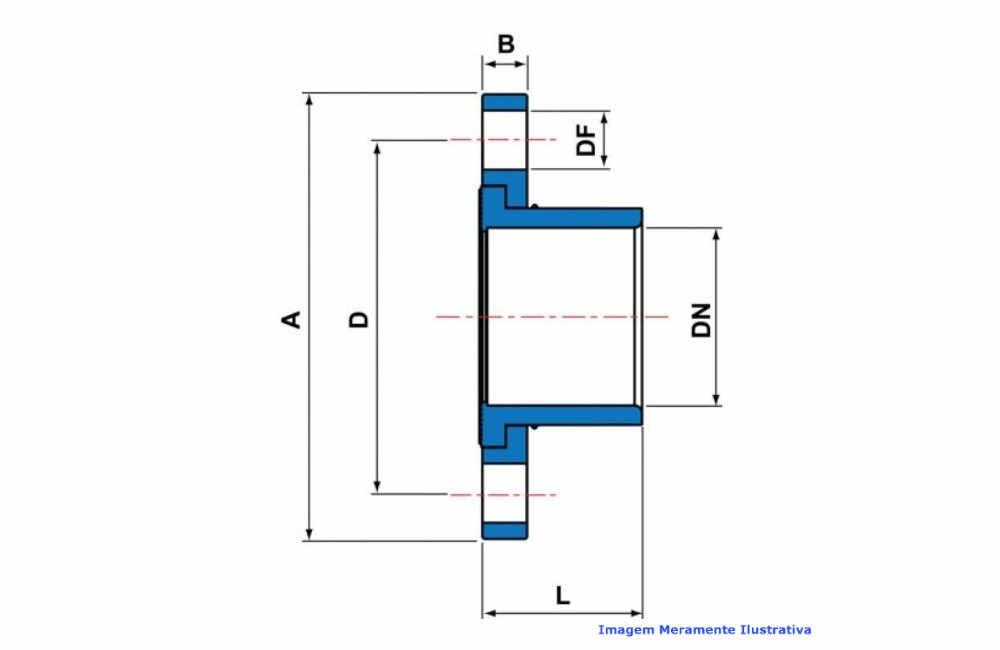 FLANGE FÊMEA PVC-U SCH80 SOLD TIGRE DN 1/2