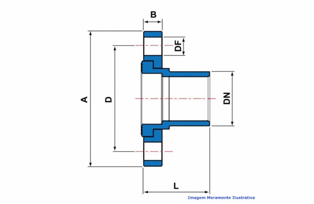 FLANGE MACHO PVC-U SCH80 SOLD TIGRE DN 3/4